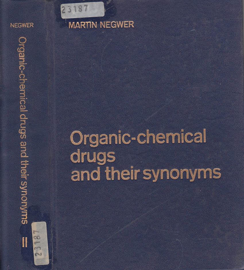 Negwer Martin - Organic-chemical drugs and their synonyms
