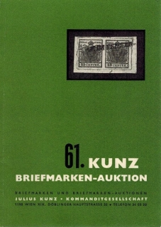 61. Kunz Briefmarken-auktion