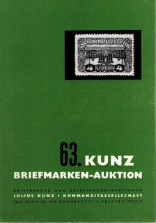 63. Kunz Briefmarken-auktion