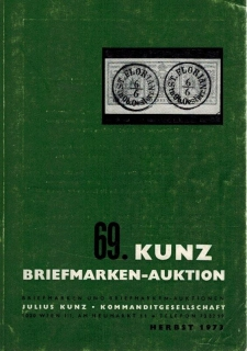 69. Kunz Briefmarken-auktion