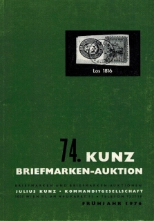74. Kunz Briefmarken-auktion