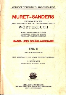 Muret-Sanders - Encyclopaedic German-English Dictionary II.